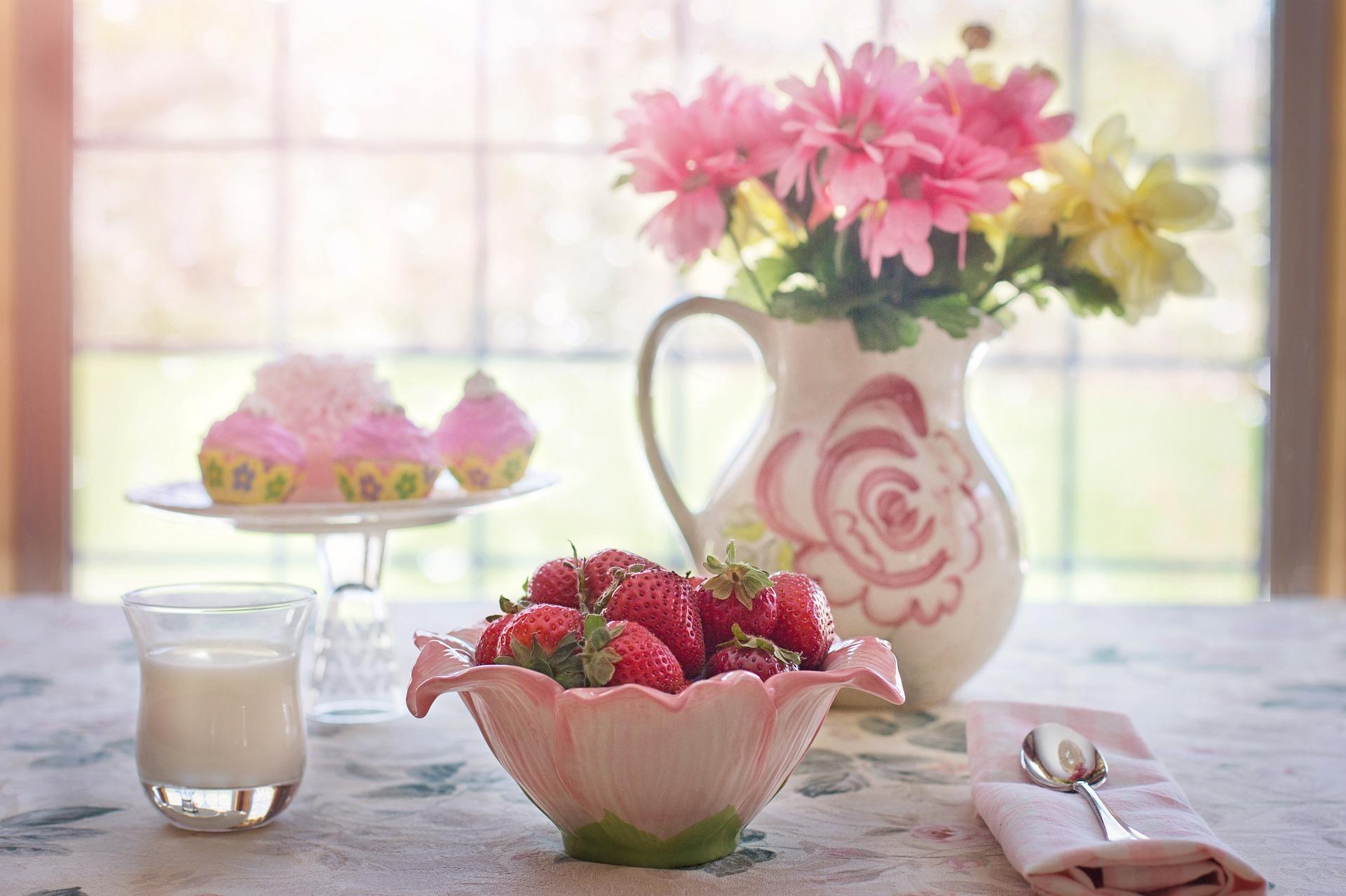 Früchte Tisch Gedeck pixabay