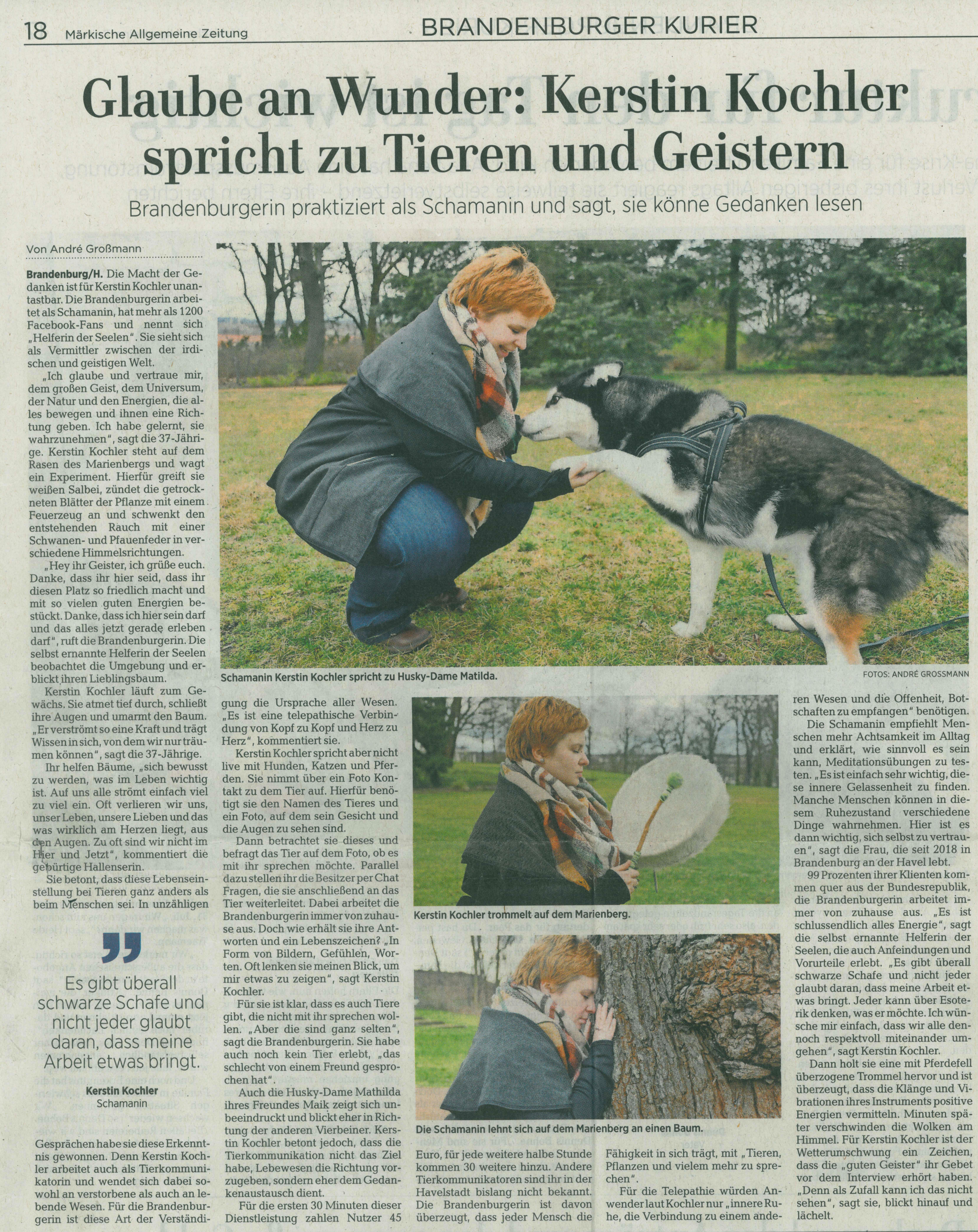 Zeitungsartikel MAZ